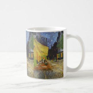 Terraza en la noche - Vincent van Gogh del café Tazas