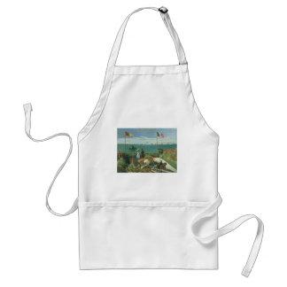Terraza en la playa de Claude Monet Delantal