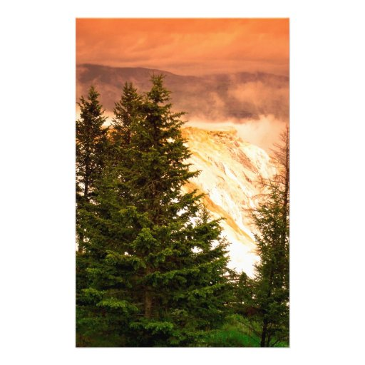 Terrazas gigantescas Wyoming de Yellowstone Papeleria