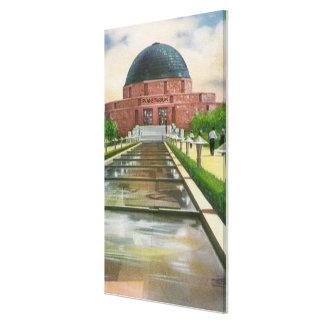 Terrazo Promenade View of Adler Planetarium Canvas Print