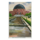 Terrazo Promenade View of Adler Planetarium Poster