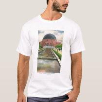 Terrazo Promenade View of Adler Planetarium T-Shirt
