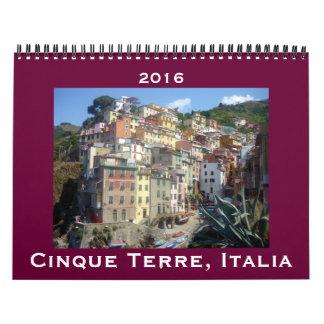 terre 2016 del cinque calendarios de pared
