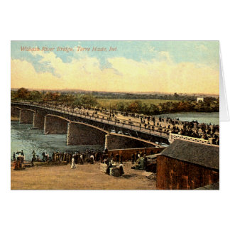 Terre Haute, Indiana Wabash River Bridge Greeting Card