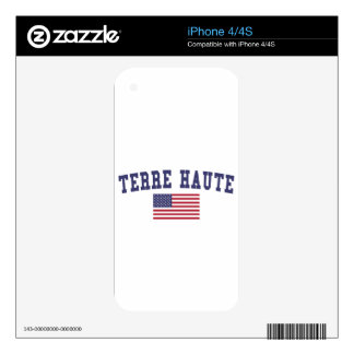 Terre Haute US Flag Skins For iPhone 4S