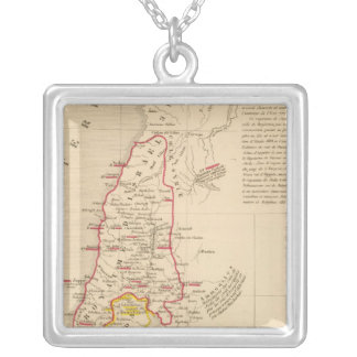 Terre Sainte divisee en royaumes d'Israel Silver Plated Necklace