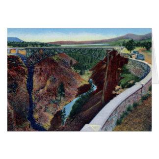 Terrebonne Oregon Crooked River Bridge Dalles Cali Card