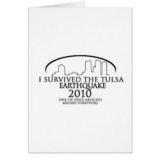 Terremoto 2010 de Tulsa Tarjetas