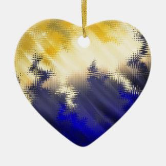 Terremoto Adorno Navideño De Cerámica En Forma De Corazón
