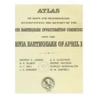 Terremoto de California del atlas de la página de  Postales