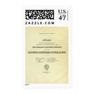 Terremoto de California del atlas de la página de Sello Postal