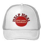 Terremoto de Japón y camisa del tsunami Gorros Bordados