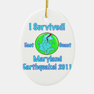 Terremoto de Maryland de 2011 Adorno Navideño Ovalado De Cerámica