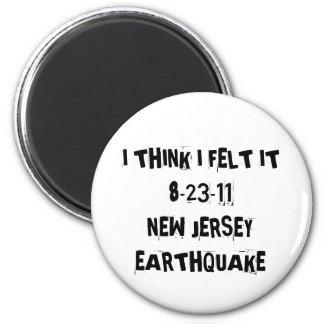 Terremoto de New Jersey Imán Redondo 5 Cm