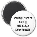 Terremoto de New Jersey Imanes De Nevera