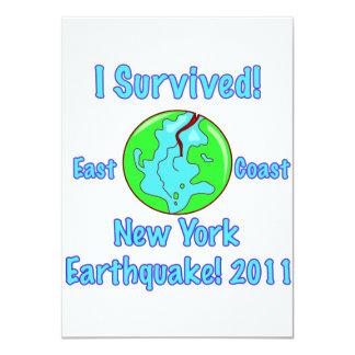 """Terremoto de Nueva York de 2011 Invitación 4.5"""" X 6.25"""""""