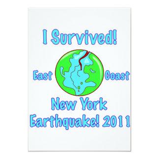 """Terremoto de Nueva York de 2011 Invitación 5"""" X 7"""""""