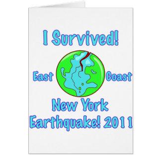 Terremoto de Nueva York de 2011 Tarjeta De Felicitación