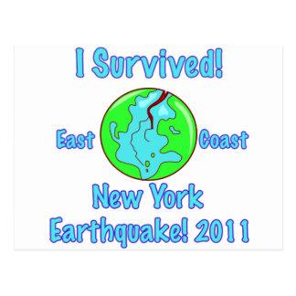 Terremoto de Nueva York de 2011 Tarjeta Postal