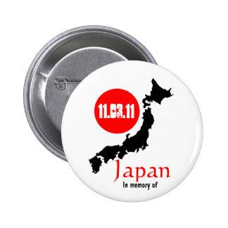 Terremoto Sendai del tsunami del alivio de Japón Pins