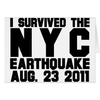 terremoto tarjeta de felicitación