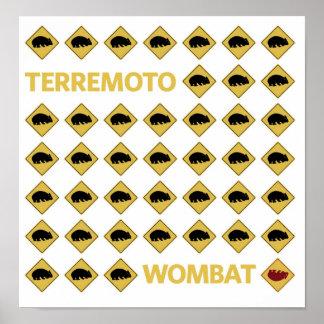Terremoto Wombat Poster