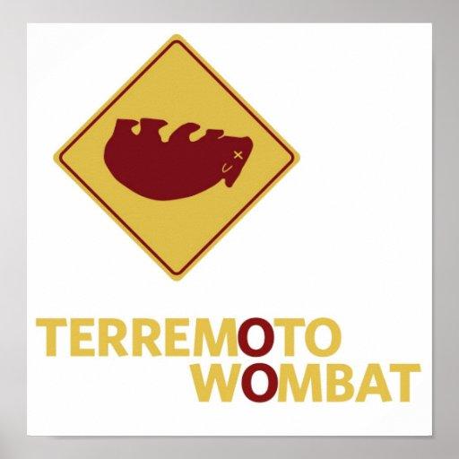 Terremoto Wombat Póster
