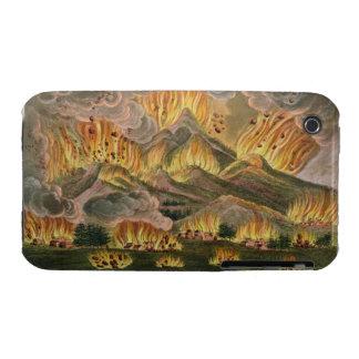 Terremoto y erupción de la montaña de Asama-y iPhone 3 Case-Mate Cobertura