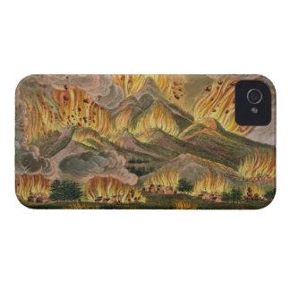 Terremoto y erupción de la montaña de Asama-y Case-Mate iPhone 4 Protectores