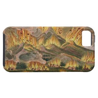 Terremoto y erupción de la montaña de Asama-y iPhone 5 Case-Mate Funda