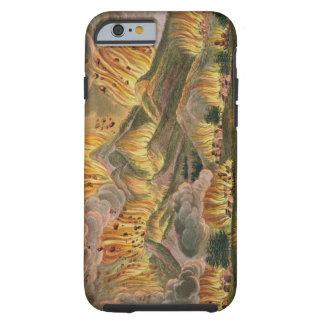 Terremoto y erupción de la montaña de Asama-y Funda De iPhone 6 Tough