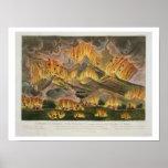 Terremoto y erupción de la montaña de Asama-y Impresiones