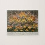 Terremoto y erupción de la montaña de Asama-y Rompecabezas Con Fotos
