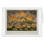 Terremoto y erupción de la montaña de Asama-y Tarjeta