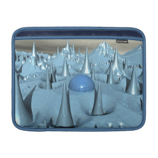 Terreno azul del extranjero de los puntos funda  MacBook