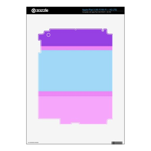 Terreno de juego reconstruido pegatina skin para iPad 3