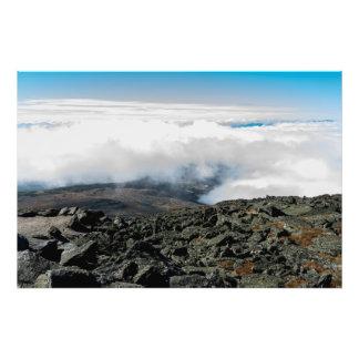 Terreno de Rocky de la cumbre del Mt. Washington Cojinete
