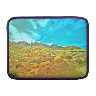 Terreno montañoso funda para macbook air