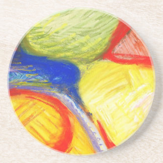 Terrenos de juego en colores pastel expresionismo posavasos personalizados
