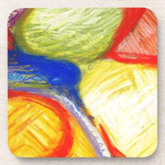 Terrenos de juego en colores pastel expresionismo posavasos de bebida