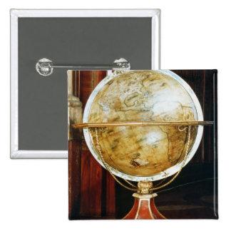 Terrestrial globe, 1688 button