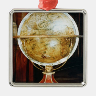 Terrestrial globe, 1688 metal ornament