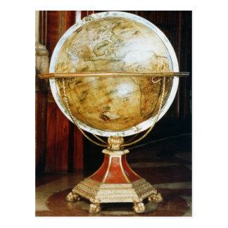 Terrestrial globe, 1688 postcard