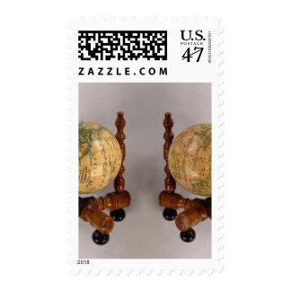 Terrestrial Globe Celestial Globe Stamp