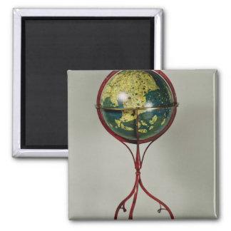 Terrestrial Globe, made in Nuremberg in 1492 2 Inch Square Magnet