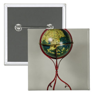 Terrestrial Globe, made in Nuremberg in 1492 2 Inch Square Button