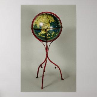 Terrestrial Globe, made in Nuremberg in 1492 Poster