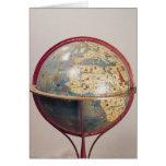 Terrestrial Globe, showing the Indian Ocean Card