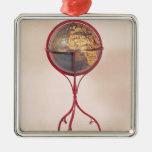 Terrestrial Globe, showing the Indian Ocean Metal Ornament
