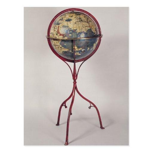Terrestrial Globe, showing the Indian Ocean Postcard